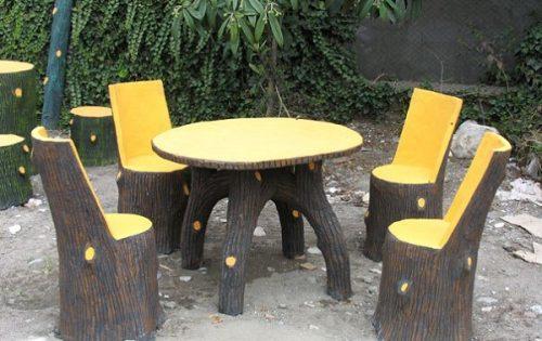 میز و صندلی بتنی بابلسر
